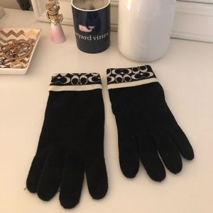 Black Coach Gloves